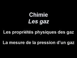 La mesure de la pression, Les propriétés physiques des gaz, Chimie, Les gaz, cpmobile